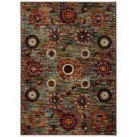 Oriental Weavers Sedona Floral Medallion 5-Foot 3-Inch x 7-Foot 6-Inch Area Rug in Multicolor