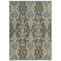 Oriental Weavers Sedona Washed Ikat 5-Foot 3-Inch x 7-Foot 6-Inch Area Rug in Ivory