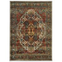 Oriental Weavers Sedona Traditional 5-Foot 3-Inch x 7-Foot 6-Inch Area Rug in Red