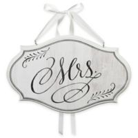 "Lillian Rose™ ""Mrs."" Oval Chair Sign in White"