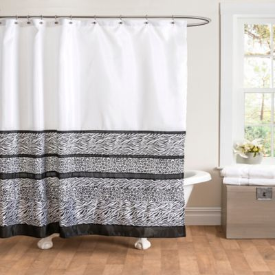 Tribal Dance Shower Curtain In Black White