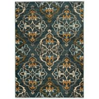 Oriental Weavers Sedona Damask 1-Foot 10-Inch x 3-Foot Accent Rug in Blue
