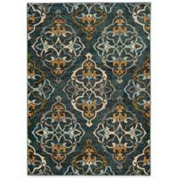Oriental Weavers Sedona Damask 2-Foot 3-Inch x 7-Foot 6-Inch Runner in Blue