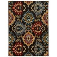 Oriental Weavers Floral Damask 2-Foot 3-Inch x 7-Foot 6-Inch Runner in Charcoal