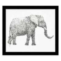 "Alphabet Animal ""Sexy"" Elephant Framed Wall Art"