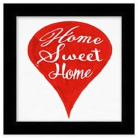"""Red Map Pin """"Home Sweet Home"""" Framed Wall Art"""