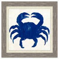 Beach Chic Blue Crab II Framed Wall Art