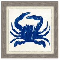 Beach Chic Blue Crab I Framed Wall Art
