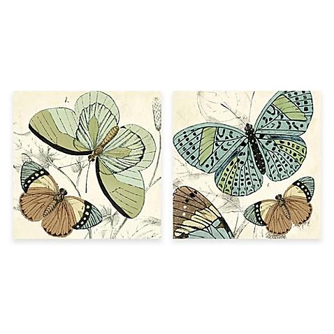 Botanical Butterfly Canvas Wall Art