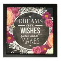 "Graham & Brown Chalkboard Typography ""Dreams are Wishes"" Framed Wall Art"