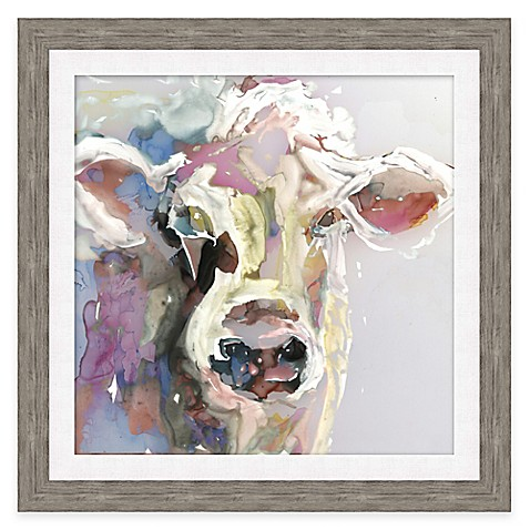 Watercolor Cow Face Framed Wall Art Bed Bath Amp Beyond