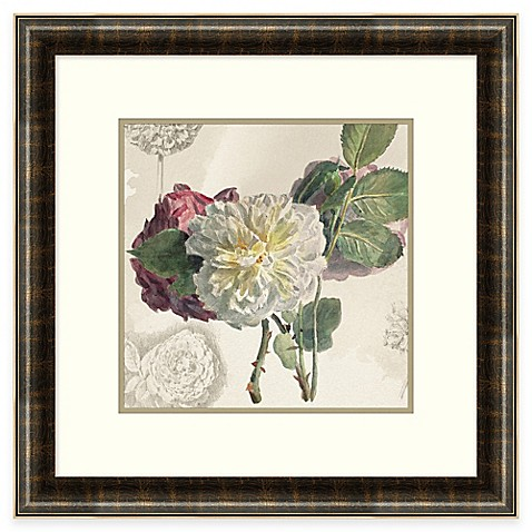 Floral arrangement framed wall art bed bath beyond for Wall decor arrangements