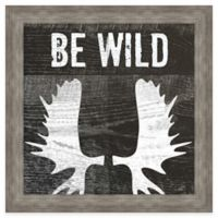 """Be Wild"" Inspirational Framed Wall Art"