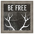 """Be Free"" Inspirational Framed Wall Art"