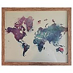Graham & Brown Watercolor Map Framed Canvas Wall Art