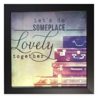 Traveler Inspiration Framed Wall Art