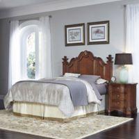 Home Styles Santiago 2-Piece Queen/Full Headboard and Nightstand Set in Cognac