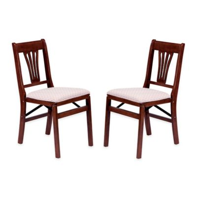 Stakmore Urn Back Wood Folding Chairs in Cherry  Set of 2 Buy Decorative Folding Chair from Bed Bath   Beyond. Decorative Folding Chairs. Home Design Ideas