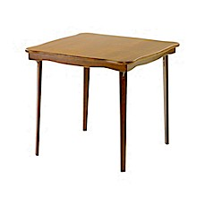 stakmore 32 inch scalloped edge folding card table bed