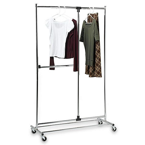 Awesome Two Tier Adjustable Garment Rack