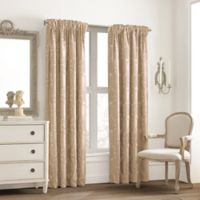 Valeron Glenview Rod Pocket with Pencil Pleat 63-Inch Window Curtain Panel in Champagne