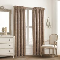 Valeron Glenview Rod Pocket with Pencil Pleat 63-Inch Window Curtain Panel in Mocha