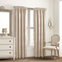 Valeron Glenview Rod Pocket with Pencil Pleat 63-Inch Window Curtain Panel in Cream