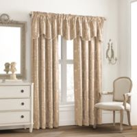 Valeron Glenview Window Curtain Valance with Pencil Pleat in Champagne