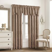 Valeron Glenview Window Curtain Valance with Pencil Pleat in Mocha