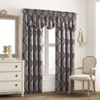 Valeron Glenview Window Curtain Valance with Pencil Pleat in Steel Blue