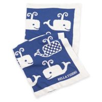 Bella Tunno Whale On Favorite Blanket in Blue