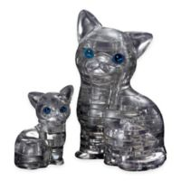 BePuzzled® 49-Piece Cat with Kitten 3D Crystal Puzzle in Black