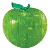 44-Piece Apple 3D Crystal Puzzle in Green