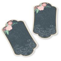Lillian Rose™ 24-Pack Flower Chalkboard Style Wishes Key Tags in Black/Pink