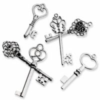 Lillian Rose™ 24-Pack Assorted Keys in Silver