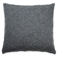 DKNY City Pleat Diamond Square Throw Pillow in Slate Grey