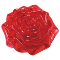 44-Piece Rose 3D Crystal Puzzle in Red