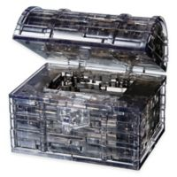 52-Piece 3D Treasure Chest Crystal Puzzle in Black