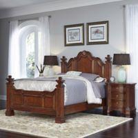 Home Styles Santiago Wood 3-Piece Queen Bed and Night Stand Set in Cognac in Cognac