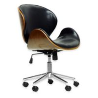 Baxton Studio Bruce Modern Office Chair in Walnut/Black