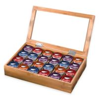 Bamboo Single Serve Coffee Pod Holder with Transparent Acrylic Lid