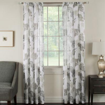 Nice Brinkley Sheer 63 Inch Rod Pocket Sheer Waterflower Window Curtain Panel In  Taupe