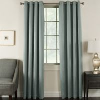 Brinkley 63-Inch Grommet Top Room Darkening Window Curtain Panel in Slate