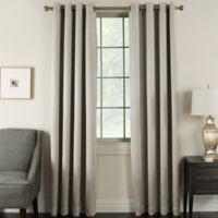 Brinkley 63-Inch Grommet Top Room Darkening Window Curtain Panel in Taupe
