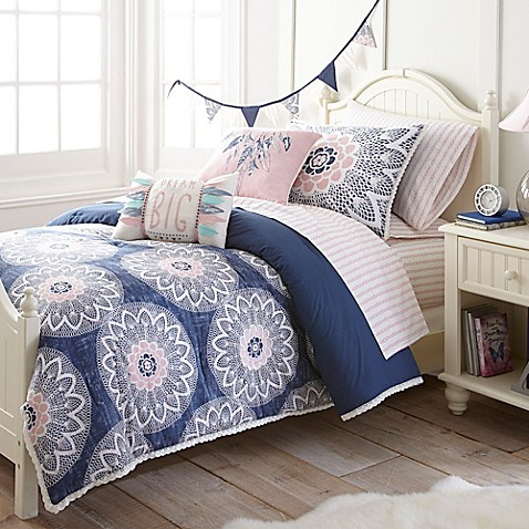 frank and lulu dream catcher comforter set in indigo - bed bath