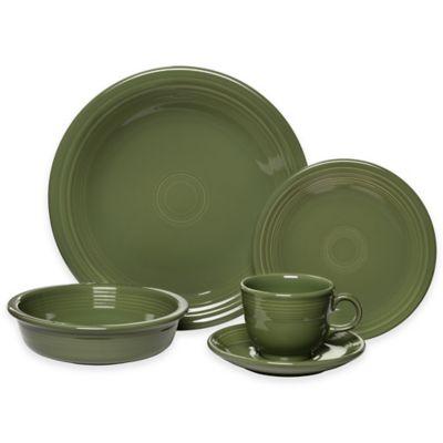 Fiesta® 5-Piece Place Setting in Sage  sc 1 st  Bed Bath \u0026 Beyond & Buy Sage Green Dinnerware Sets from Bed Bath \u0026 Beyond