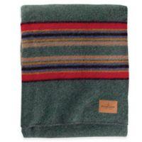 Pendleton® Hemrich Stripe Camp Twin Blanket in Green