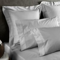Frette At Home Tiber King Pillowcase in Pearl Grey