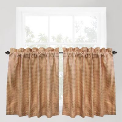 Buy 36-Inch Window Curtain Tier Pair in Gold from Bed Bath & Beyond