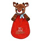 My First Rudolph  Plush Security Blanket with Light-Up Nose in Red